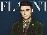 Cover boy: Daniel Radcliffe graces the cover of Flaunt magazine's November issue and opened up about filming his new movie Kill Your Darlings