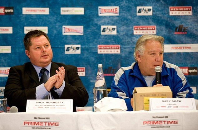 Preparation: Promoter Mike Hennessy (left) believes facing Davis will be good for DeGale