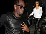 Diddy and girlfriend Cassie Ventura celebrate his one-time protege Usher's birthday in his 'n' hers leather