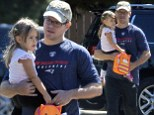 Family first! Matt Damon took his daughter Stella out in Los Angeles, California on Monday