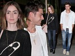 Is the spark back? Zac Efron looks healthy in white as he takes Lily Collins out to the movies after they dated briefly last year