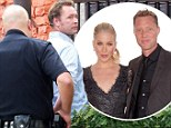 Pictured: Christina Applegate's husband Martyn LeNoble 'frisked by police after altercation with photographer'