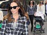 Tamara and Petra Ecclestone leave Harrods and head on foot to Scalini's Restaurant in Walton Street.