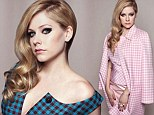 Singer Avril Lavigne goes from grunge to glam in a photo shoot featured in next month's Bellomag
