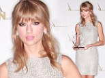 Taylor Swift sparkles in silver as she smashes prestigious Nashville Songwriters Association record with sixth win