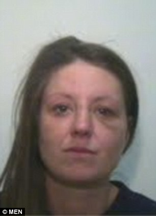 MEN SYNDICATION.. Pic shows Bernadette Chapman, of Bury, Greater Manchester, who carried out an armed robbery with James Clewes...