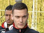 Belgium's Jan Vertonghen and Belgium's Thomas Vermaelen pictured as they arrive for a training session