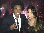 Rap fans: Chelsea ace Willian and friend at Jay Z concert
