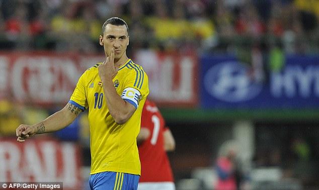 The big man: PSG striker Ibrahimovic is undoubtedly Sweden's main man
