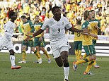 On target: Asamoah Gyan struck twice as Ghana earned a big win (stock picture)