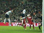 Heading into the lead: Wayne Rooney nods the ball home to give England the lead