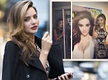 A natural model: Miranda Kerr made a splash as she arrived at the Hearst offices in New York City on Tuesday