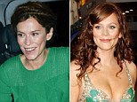 Anna Friel's hollow face and painfully thin frame (right) were in stark contrast to the fuller figure