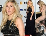 Ellie Goulding bares her body again in cutaway black chiffon gown after wearing revealing gold dress on X Factor