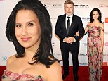 Hilaria Baldwin dazzles in ethereal frock with dapper husband Alec at star-studded Elton John AIDS benefit