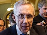 Center of gravity: Senate Majority Leader Harry Reid is carrying the ball for President Obama , and claimed Tuesday that he was 'blindsided' by House Republicans, whose proposal 'will not pass the Senate'