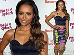 She's bewitching! Vampire Diaries' Kat Graham flashes her toned midriff in crop top and flashy skirt at Aquafina bash
