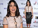 Reed all about it! Nikki turns heads in a leather pencil skirt and pretty blouse as she leads stars at documentary screening