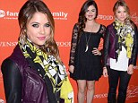 Ashley Benson is rocker chic in leather while co-star Lucy Hale is pretty in lace at screening of Pretty Little Liars Halloween episode