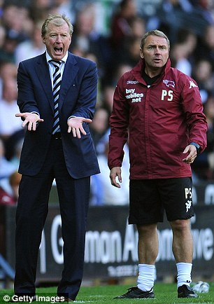 New man at the Rams: Derby County boss Steve McClaren, left, and first team coach Paul Simpson