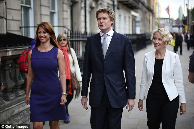 The former political presenter with shadow education secretary Tristram Hunt and shadow housing minister Emma Reynolds