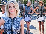 I'm a little teapot! Julianne Hough cannot stop posing with her hands on her hips as she appears on the set of Extra