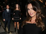 Curvy: Tamara Ecclestone steps out in figure hugging dress for a night out with her husband Jay Rutland