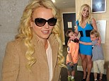 Whistle-stop tour: Singer Britney Spears seen leaving her hotel and heading to BBC Radio 1 in London