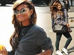 On to the next! Christina Milian covered her feelings of despair as she was spotted in New York City on Tuesday, following her elimination from Monday's Dancing With The Stars