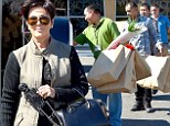 Looking for some holiday cheer? Kris Jenner splurges on Christmas decorations nearly three months before December date... after announcing split from Bruce