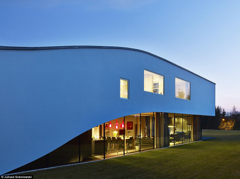 The ultra-modern property was created by Polish architectural firm, Robert Konieczny - KWK Promes