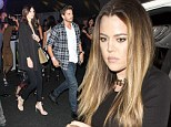 Fashion night out: Reality stars Kylie Jenner, Kendall Jenner and Scott Disick are seem watching Caroline D'Amore walk the runway and join Khloe Kardashian to let their hair down later at Wax Rabbit night club, LA
