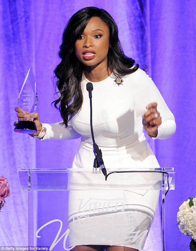 Powering through: Jennifer Hudson was honoured with the Samsung Impact Award at Variety's Power Of Women event held at the Four Seasons hotel in Beverly Hills on Friday