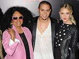Outshone at his own premiere! Evan Ross looks decidedly scruffy alongside stylish girlfriend Ashlee Simpson and superstar mom Diana Ross