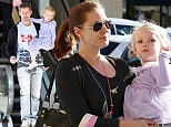 Family time: Amy Adams and Darren Le Gallo take their daughter Aviana to a little retail therapy after her ballet class in Los Angeles