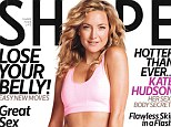It's no wonder she has abs of steel! Mother-of-two Kate Hudson displays her rock hard stomach on the cover of Shape magazine after doing Pilates for 15 YEARS