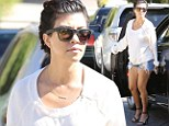 Kourtney Kardashian dons barely-there shorts and stilettos as she takes daughter Penelope to a playdate