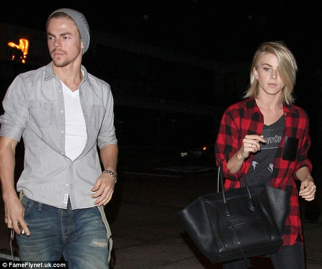 Siblings Derek Hough and Julianne Hough out for dinner at Craig's in West Hollywood, California