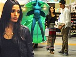Freida Pinto steps out for late night grocery run with Dev Patel... the same day her risque Bruno Mars' music video is released