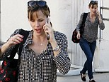 I just called to say I love you! Jennifer Garner chats on phone as she picks daughter Seraphina up from karate class