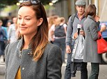 Olivia Wilde and fiancé Jason Sudeikis step out together in co-ordinating shades of grey