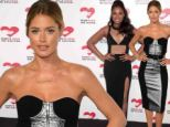 Jennifer Hudson and Doutzen Kroes show off their stunning figures in black dresses accented with lace and silver panels