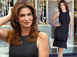 Making time stand still! Cindy Crawford, 47, looks as good as ever at watch shop opening in Chile