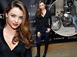 Miranda Kerr stomps into event wearing seriously sexy leather boots... so she can climb on Orlando Bloom's motorbike later