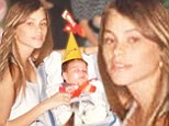 Boo! Sofia Vergara posts her son's first Halloween picture showing the star as a teen mom in Columbia