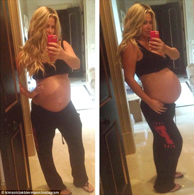 Yet another pregnancy selfie: Kim Zolciak posted a snapshot of her growing baby bump on her Instagram account on Monday