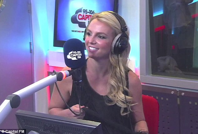 Can't wait: Britney also said that she's 'stoked' about her upcoming Las Vegas gig