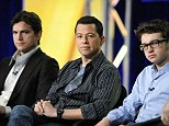 Hit show: Two and a Half Men's Ashton Kutcher, Jon Cryer and Angus T. Jones