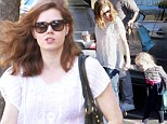 Amy Adams' daughter is as cute as a button as they head to school