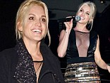 Stealing the attention! Ashley Roberts wears plunging black and gold sequinned dress at Dreamboys calendar launch